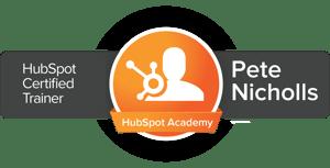 Pete Nicholls HubSpot Certified Trainer
